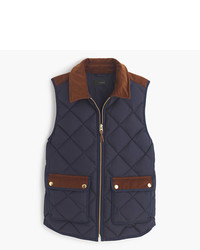 J.Crew Excursion Vest With Corduroy Trim
