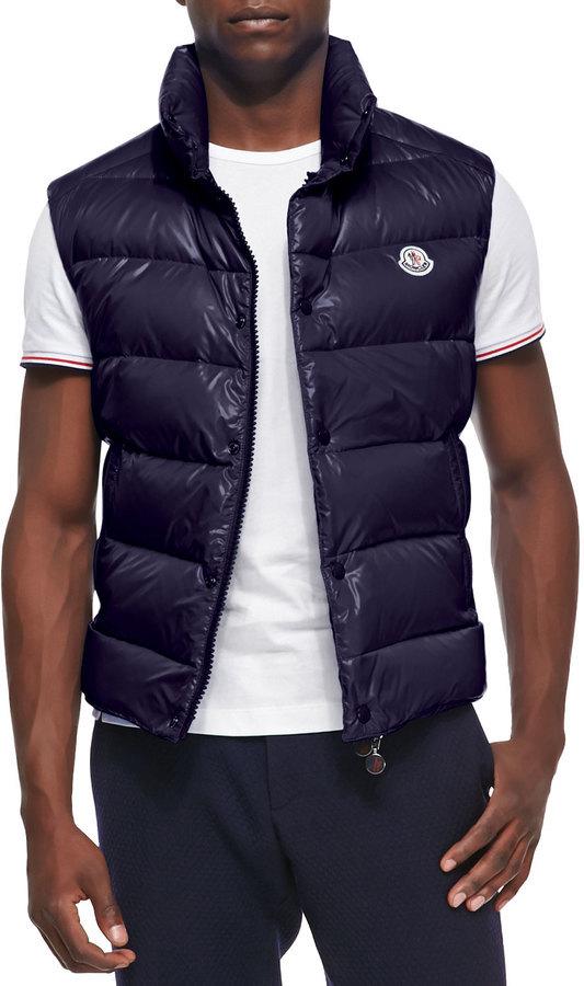 ... Moncler Moncler Tib Puffer Vest, Dark Navy