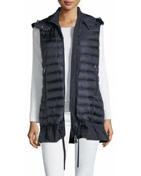 Quilted drop waist gilet medium 6986804
