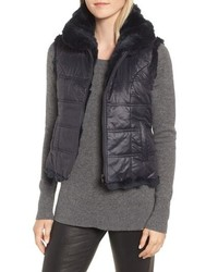 Linda Richards Reversible Genuine Rabbit Fur Vest