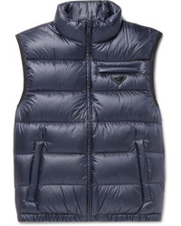 Prada Slim Fit Quilted Shell Down Gilet