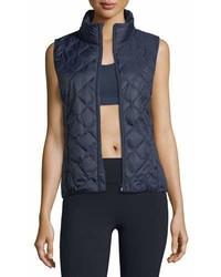 Tory Sport Zip Front Packable Down Vest