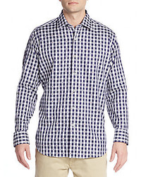 Navy Gingham Dress Shirt