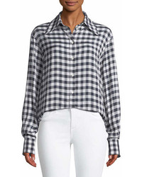 Charlie gingham jacquard shirt medium 6990472
