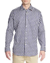 Bugatchi Classic Fit Neat Gingham Cotton Sportshirt