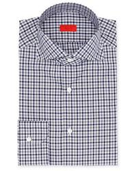 Isaia Gingham Check Cotton Dress Shirt
