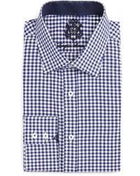 English Laundry Gingham Check Dress Shirt Navy