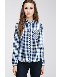 Forever 21 Gingham Patterned Shirt