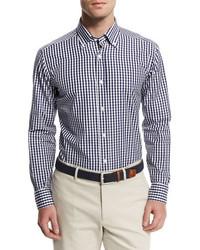Goodmans Goodmans Gingham Woven Dress Shirt Navy