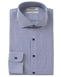 Murano Slim Fit Gingham Cutaway Collar Dress Shirt