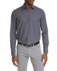 Canali Regular Fit Check Button Up Shirt