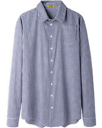 Peter Jensen Seamed Collar Gingham Shirt