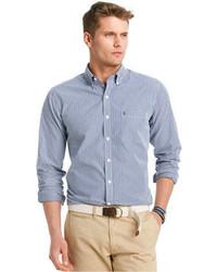 Izod Shirt Long Sleeve Slim Fit Gingham Shirt