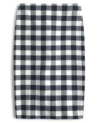 J.Crew No 2 Pencil Cotton Gingham Skirt