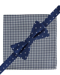 Tommy Hilfiger Dot Bow Tie Gingham Pocket Square Set