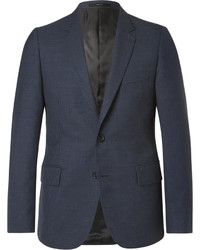 Paul Smith Blue Soho Slim Fit Gingham Wool Suit Jacket