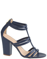 J.Crew Back Zip High Heel Sandals