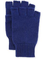 Neiman Marcus Cashmere Fingerless Gloves Lunar Navy