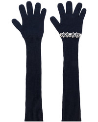No.21 No21 Sequinned Ribbed Gloves