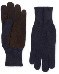 Brunello Cucinelli Suede Panelled Cashmere Gloves