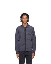 C.P. Company Blue Nylon Cargo Over Shirt Jacket
