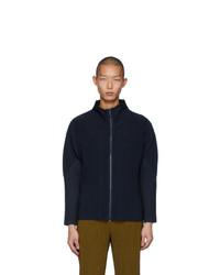 Homme Plissé Issey Miyake Navy Basics Zip Up Jacket