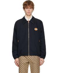 Gucci Navy Cotton Nylon Zip Jacket