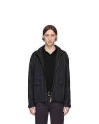Paul Smith Navy Loro Piana Zip Front Jacket
