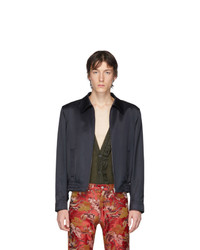 Dries Van Noten Navy Viscose Villiam Jacket