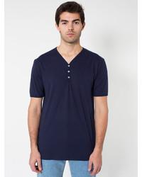 American Apparel Fine Jersey Short Sleeve Henley