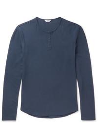Beckett waffle knit cotton jersey henley t shirt medium 6838548