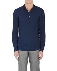 Eidos Eidos Striped Cotton Henley Shirt