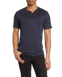 Theory Gaskell Slim Fit Short Sleeve Henley