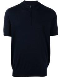 Brunello Cucinelli Half Zip Knit T Shirt