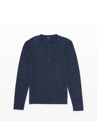 Club Monaco Long Sleeved Donegal Henley