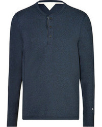 Rag and Bone Rag Bone Henley Shirt Navy