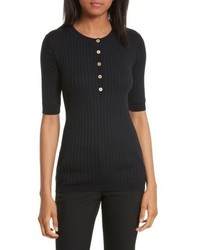 Ribbed cotton cashmere henley medium 4952581