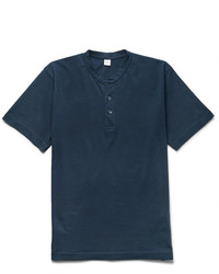 Aspesi Slim Fit Cotton Jersey Henley T Shirt