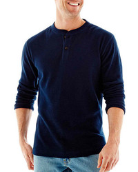 St Johns Bay St Johns Bay Long Sleeve Thermal Henley