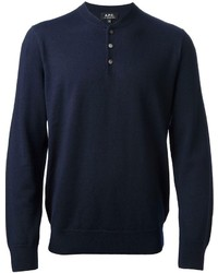 Navy Henley Sweater