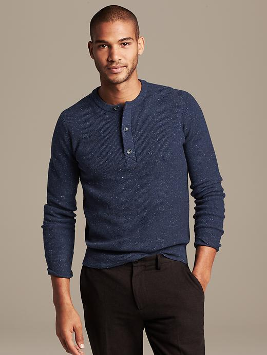 Banana Republic Tweed Henley Pullover Where To Buy Amp How