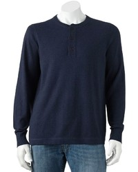 Croft Barrow Solid Lightweight Henley Sweater