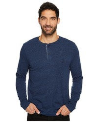Nautica Long Sleeve Snow Cotton Henley Sweater