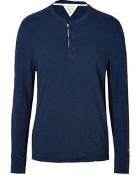 Rag and Bone Rag Bone Cotton Basic Henley In Navy