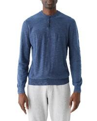 Frank and Oak Slub Cotton Henley Sweater