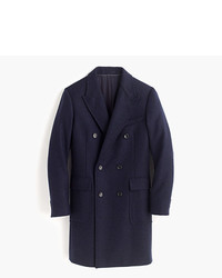 J.Crew Ludlow Double Breasted Topcoat In French Herringbone Wool