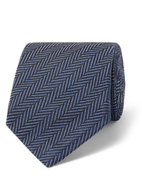 Tom Ford 8cm Herringbone Woven Silk And Cotton Blend Tie