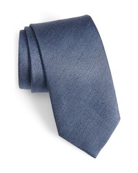 David Donahue Herringbone Silk Tie