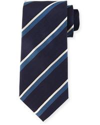 Giorgio Armani Herringbone Stripe Silk Tie