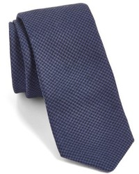 Ted Baker London Herringbone Silk Wool Skinny Tie